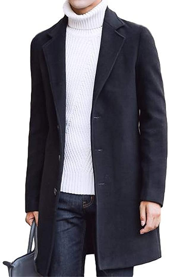 [ベンケ] コート メンズ チェスターコート 春服 ウール 暖かい ロング ジャケット スリム 無地 ビジネス 紳士服 M~2XL