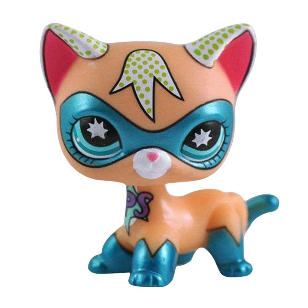 Blind Figure Toy Loose Cute Rare Pet Shop Action Animal Cartoon Cat Figures Collection LPS for Kids/Child / Girl Gift 1pcs crossed3_Pet toy store