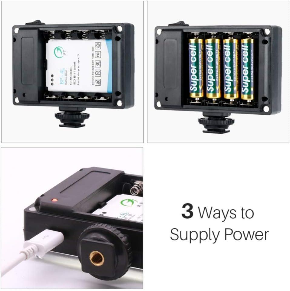 Battery for DSLR Camera Wedding Recording Videolight BP-4L Sizet New 112 Light Bulb Rechargeable LED Light Dimmable Video Light