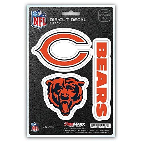 Nfl Team Bear - NFL Chicago Bears Team Decal, 3-Pack
