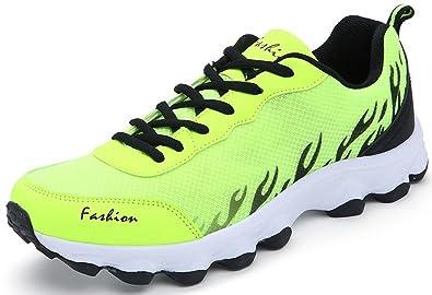 04a2a7d300e446 SEECEE Herren Laufschuhe Zweifarbig Turnschuhe Mesh Sneakers Für Männer  Sportschuhe Freizeitschuhe Rutschfest Gym Schuhe Neon Grün