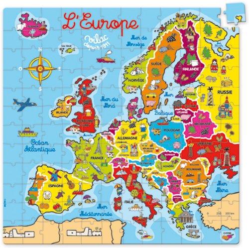 Cartina Europa Colorata.Vilac 2605 Cartina Geografica Dell Europa Puzzle In