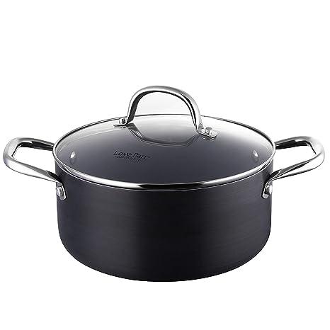 Batería de Cocina de Aluminio 12 Piezas Juego de Ollas y Sartenes Antiadherentes de Cerámica Negro Juego de Cacerolas con Accesorio para Cocinar al ...