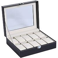 High–End orologio di orologio PU display scatola regalo trasparente di orologio