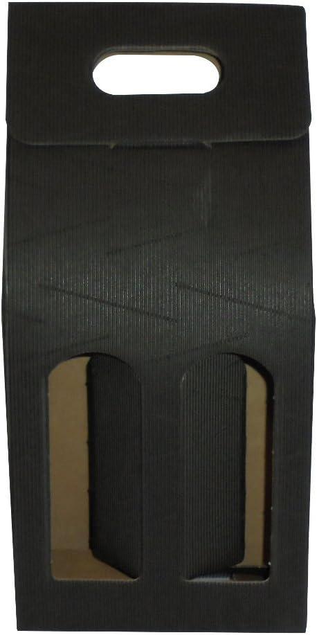 Unidades 20 caja negra porta botella (2 botellas) estuche de cartón ondulado Black Box for Bottles de papel: Amazon.es: Hogar