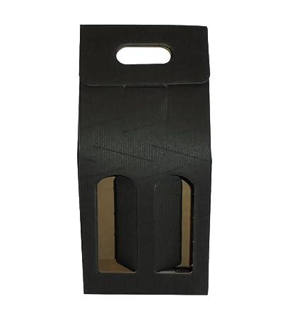 Unidades 20 caja negra porta botella (2 botellas) estuche de ...