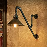 MOMO Wall Lamp Retro Creative Industrial Wind Aisle Decoration Lights Restaurant Bar Iron Iron Pipe Wall Ligh