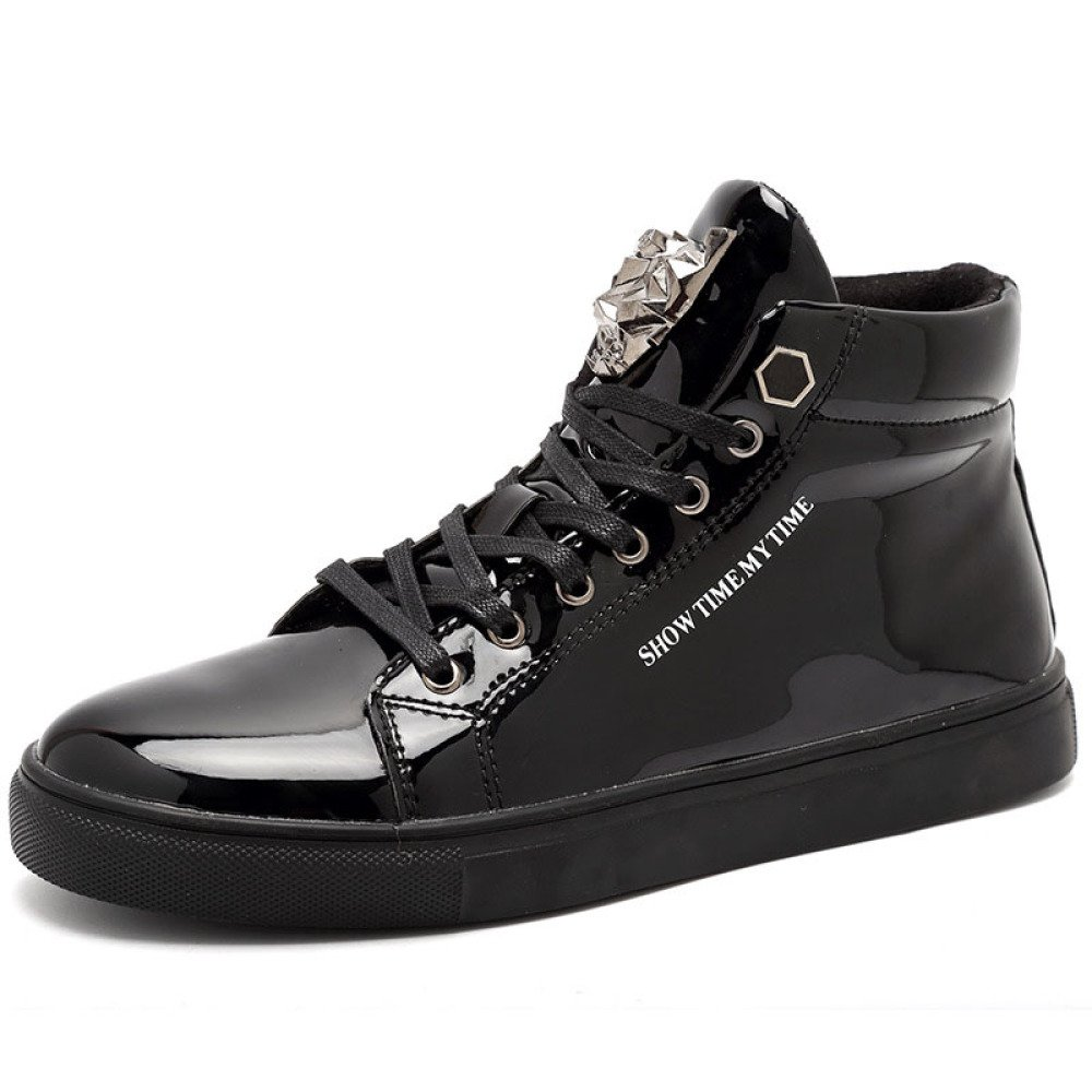 MUYII Zapatillas Para Hombre Zapatillas De Deporte De Moda Clásica Zapatillas De Entrenamiento Zapatillas Informales Zapatillas De Deporte De Calle Zapatillas Fáciles De Caminar Al Aire Libre De Interior,Black-EU43 EU43|Black