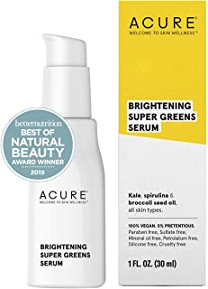 product image for ACURE Brightening Super Greens Serum | 100% Vegan | For A Brighter Appearance | Kale, Spirulina & Broccoli Seed Oil - Superfoods For Your Face | All Skin Types | 1.7 Fl Oz