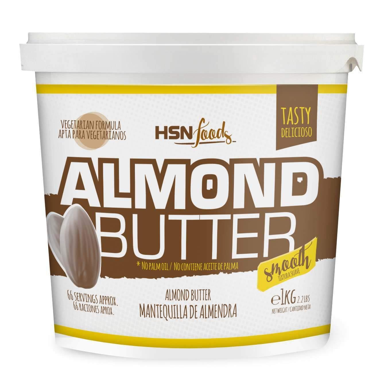 Mantequilla de Almendras de HSN   Textura Cremosa y Suave - Almond Butter Smooth - 100% Natural   Apto Vegetariano - Sin grasa de palma - Sin grasa ...