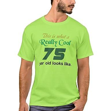Zazzle Mens Basic T Shirt 75th Birthday Lime L