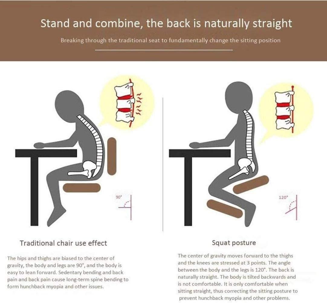 Stol ergonomiskt designad knä med hjul, minnesskum och hemmakontor, bekväm massage ortopedisk, ergonomisk utformad för att lindra smärta och förbättra hållning, svart, Co Svart