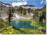 "Ceramic Tile Mural-Lake Picture Mural Tile L022. 24"" w x 18"" h using (12) 6 x 6 ceramic tiles"
