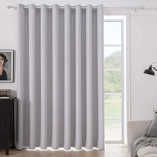 MIULEE Greyish White Blackout Curtain