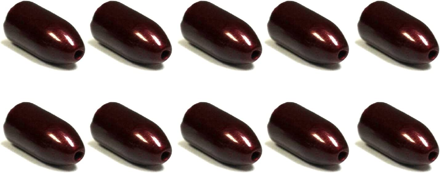 Interwebz 10 Pack Tungsten Bullet Worm Weight for Bass Fishing Pitching and Flipping Sinker Multiple Sizes and Colors Available