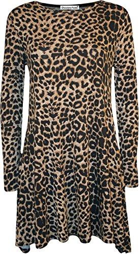 Papaval Damen Skater Kleid Leopard