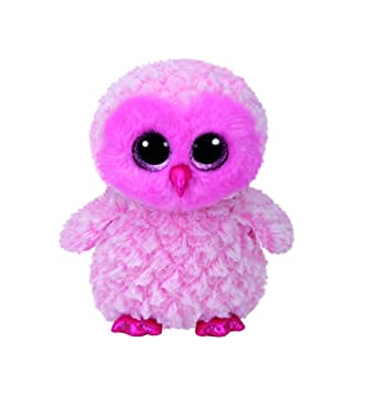 Ty Beanie Boos Twiggy-Búho Rosa 15 cm (37158TY), Color United Labels