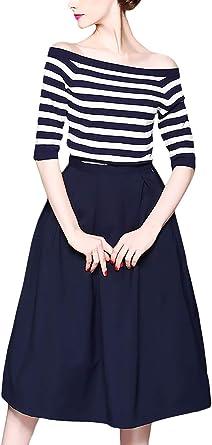 Mujer Camisas Y Faldas Dos Piezas Set Verano Mangas 3/4 ...