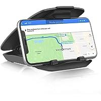 Soporte Universal de celular para Auto Alomia, Nuevo Soporte para tablero de Auto compatible con Modelos de iPhone, Samsung, Motorola, HTC, LG, Smartphones y Navegadores GPS. Color Negro Mate, Solido y Estable.