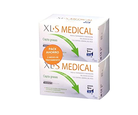 PACK XLS Medical Captagrasas - 2x180 comp - Pierde hasta 3 veces más peso que sólo
