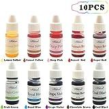 Food Coloring Liqua-Gel - 10 Color Variety Kit in .25 fl. oz. (6ml) Bottles .For cake food coloring neon food coloring food dye