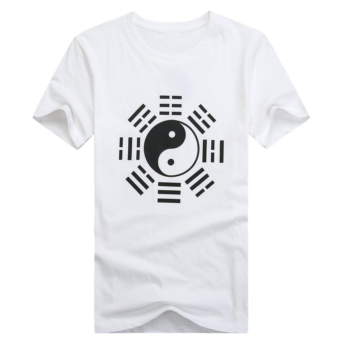 icnbuys Damen Tai Chi T-Shirt Acht Trigramme grau WMTCTET001