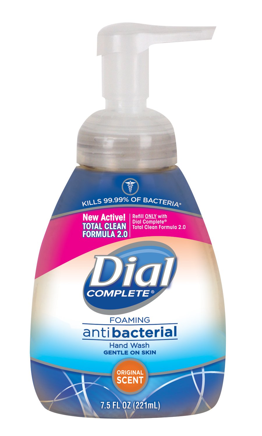 Dial Complete Antibacterial Foaming Hand Soap, Original Scent, 7.5 Fluid Ounces (Pack of 8)