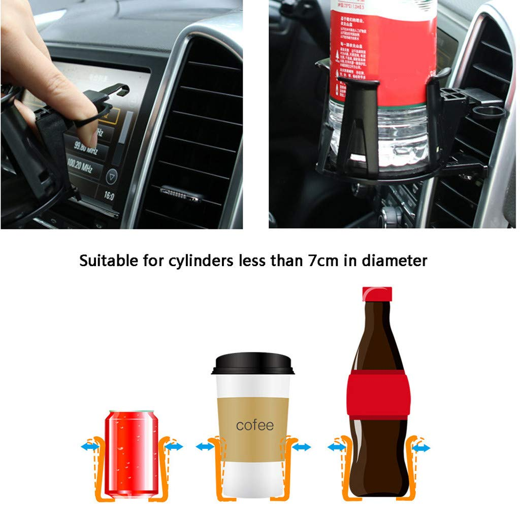 Aomili Car Mount Drink Bottle Cup Holder PC Cup Claw Auto Beverage Stand Rack Black Universal Car Truck Can Bottle Holder