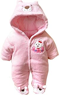 2489b6a6b73d3 (ラボーグ) La vogue 新生児 ベビー服 綿服 コスチューム 衣装 足つきとフード付 長袖