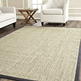 Safavieh Natural Fiber Collection NF443B Tiger Eye Marble and Grey Sisal Area Rug (8' x 10')