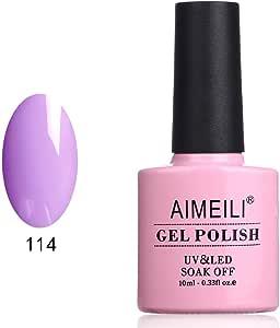 AIMEILI Soak Off UV LED Gel Nail Polish - Bauhinia Blakeana (114) 10ml