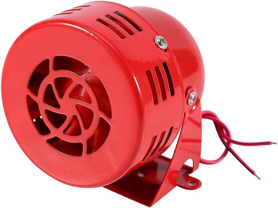 camion per auto elettrica a 12 V per moto antiaereo con allarme corno da sirena allarme forte anni 50 rosso 【Regalo di Natale】Corno da sirena ad aria rossa