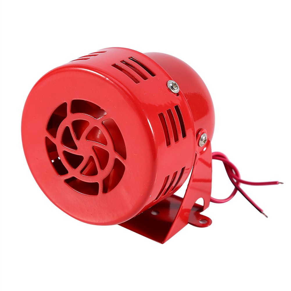 Electric Car Truck Motorcycle Driven Horn/Alarm/Siren (Air Raid) Loud 50s Red 12V Keenso