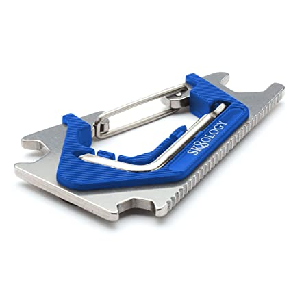 Silver//Blue Sk8ology Carabiner 2.0 Skate Tool