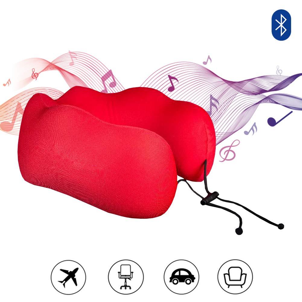 ブルートゥースの無線スピーカーが付いている記憶泡の首の枕。 首と頭はU型枕を支えます。 理想の飛行機旅行カーミュージックコンパニオン理想的な贈り物 B07T7NC5BV