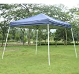 Outsunny Slant Leg Easy Pop-Up Canopy Party Tent, 10' x 10', Blue