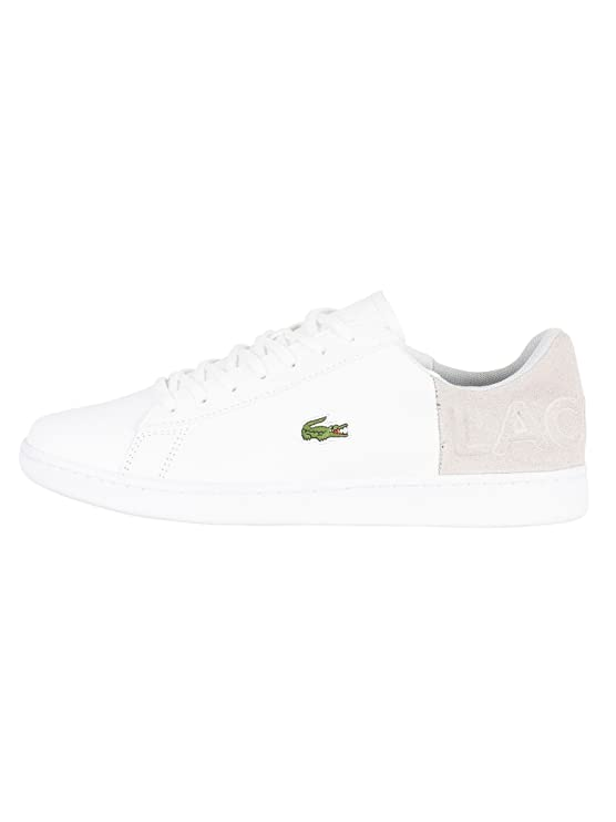 7fd9df24c Lacoste Mens Trainers White Size  8.5 UK  Amazon.co.uk  Shoes   Bags