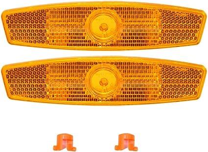 BonTime Fahrrad Speichen Reflektor Radfahren Reflektierende Clips Rad Reflektoren Speichen Reflektierende Warnstreifen