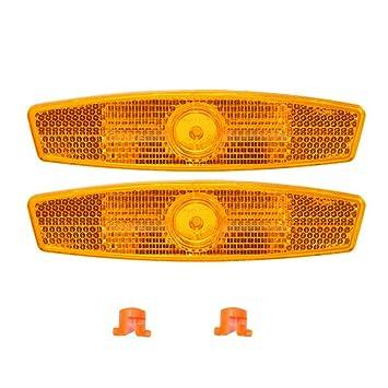 Fahrradzubehör 4 Orange Speichen Fahrrad Rad Reflektoren Set Sicherheit für Road Mountain Bikes Radsport