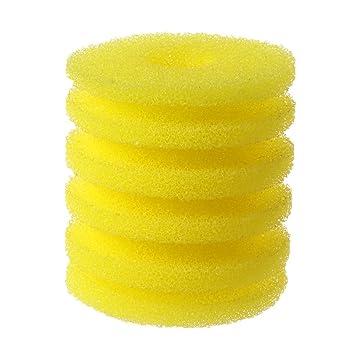LANDUM 1 Pieza esponjas de Filtro Esponja Amarilla Cubo Redondo Esponjas bioquímicas Accesorios para acuarios - Esponja Amarilla: Amazon.es: Hogar