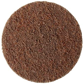 """Weiler Tiger 3"""" Diameter, Coarse Grade, General Purpose, Non-Woven Surface Conditioning, Brown Plastic Button Style Disc"""