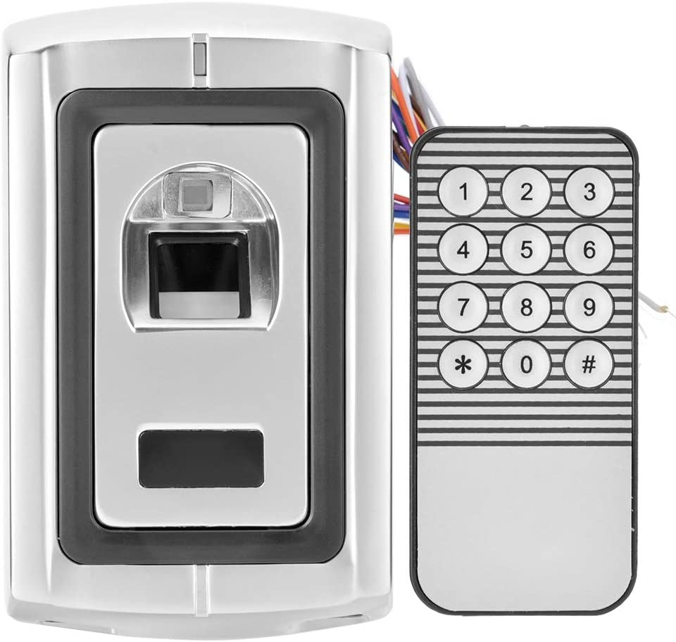 Sicherheitst/ür Fingerabdruck Zugangskontrollsystem mit 1 Fernbedienung Biometrisch Fingerabdruck T/ürschloss