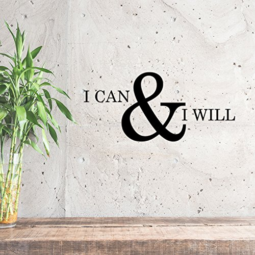 Decoration Vinyl (Motivational and Inspirational do it yourself Art Decal /I can and I will 11