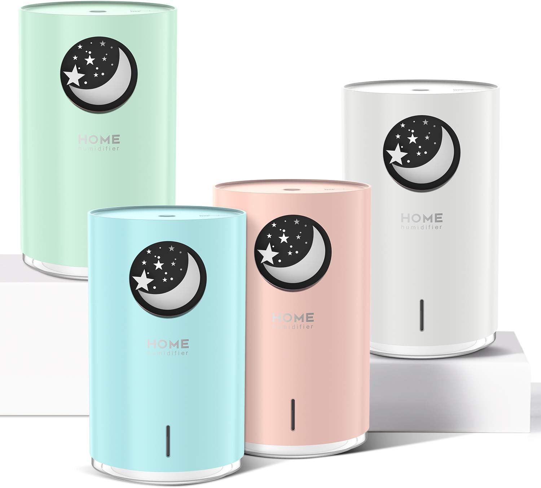 POVO 18ml Difusor Aceites Esenciales para Aromaterapia, Diufusor de Aromas  Humidificadores Bebé niebla fría con Apagado Automático sin Agua Luz