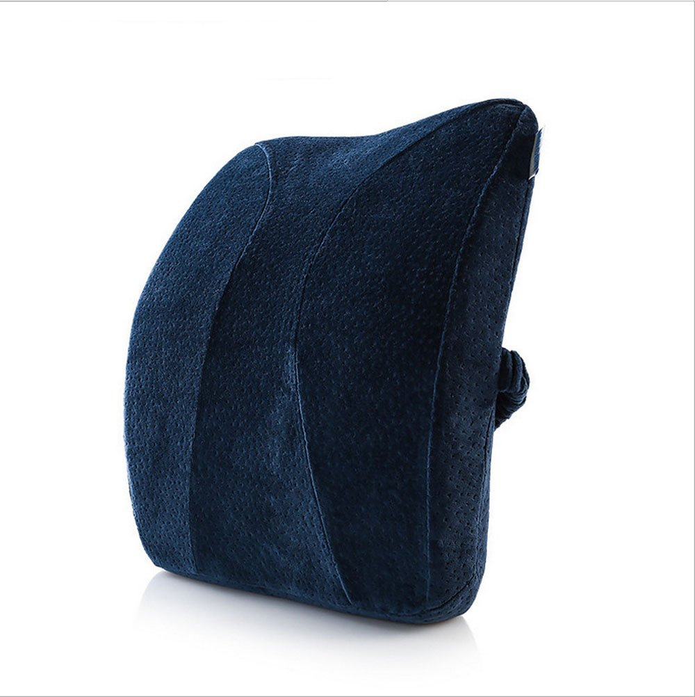 Waist Rest Office Seat Cushions Lumbar Support Waist Pillow Pregnant Women Lumbar Backrest Home Office School Car Waist pillow Sofa Support Backrest (Blue)