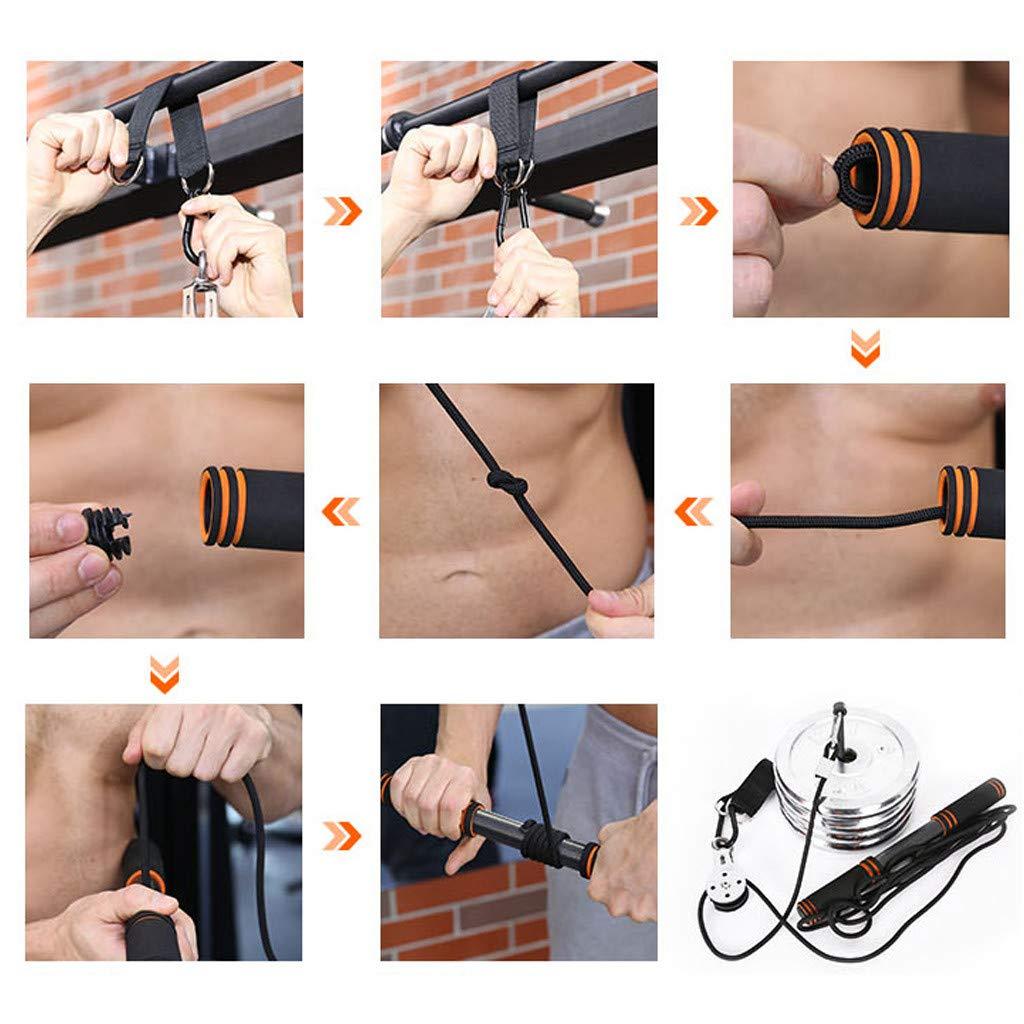 Coedfa Forearm Grip Workout Hand Grip Strengthener Forearm Exerciser Wrist Roller Fitness Equipment Rally Dumbbell Exercise Equipment Black