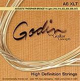 Godin Guitars 008988 Phosphor Bronze Electric Guitar Strings, Extra Light
