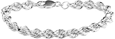 c40b39cca84104 ARISIDH Latest Exclusive Stylish Design 92.5 Pure Sterling Silver Bracelet  for Men and Boys.