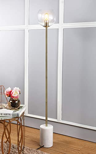Safavieh FLL4002A Lighting Collection Bradley White and Brass Gold Floor Lamp