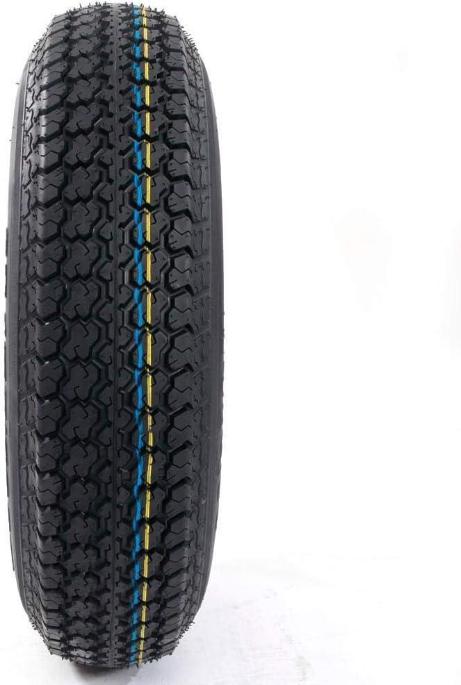 2pcs 13 ST175//80D13 Load Range C 6 Ply Rated Trail Bias Trailer Tires 5 on 4.5 Bolt Circle